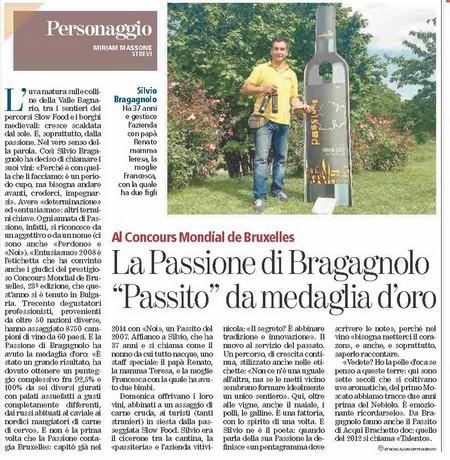 7 GIUGNO - IL PASSITO PASSIONE STREVI MEDAGLIO D'ORO